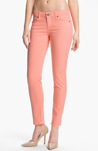 Paige 'Skyline' Skinny Stretch Ankle Jeans (Flamingo)