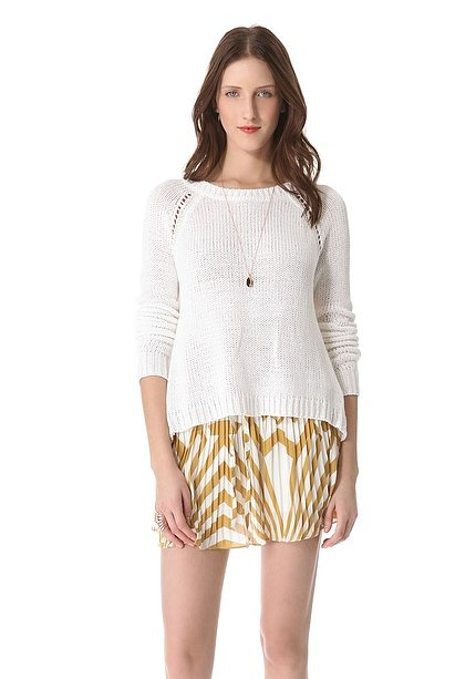 A lightweight sweater is a Spring must;