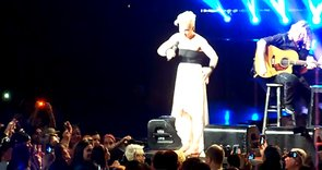 Pink Comforts Crying Girl at Concert