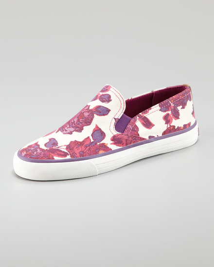 Tory Burch Miles Canvas Slip-On Sneaker, Floral