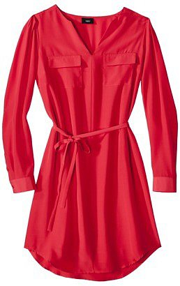 Mossimo® Womens Long Sleeve Tie Waist Dress - Assorted Colors
