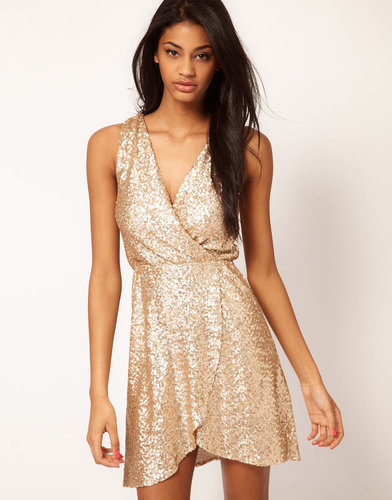 TFNC Dress Cross Front in Sequin