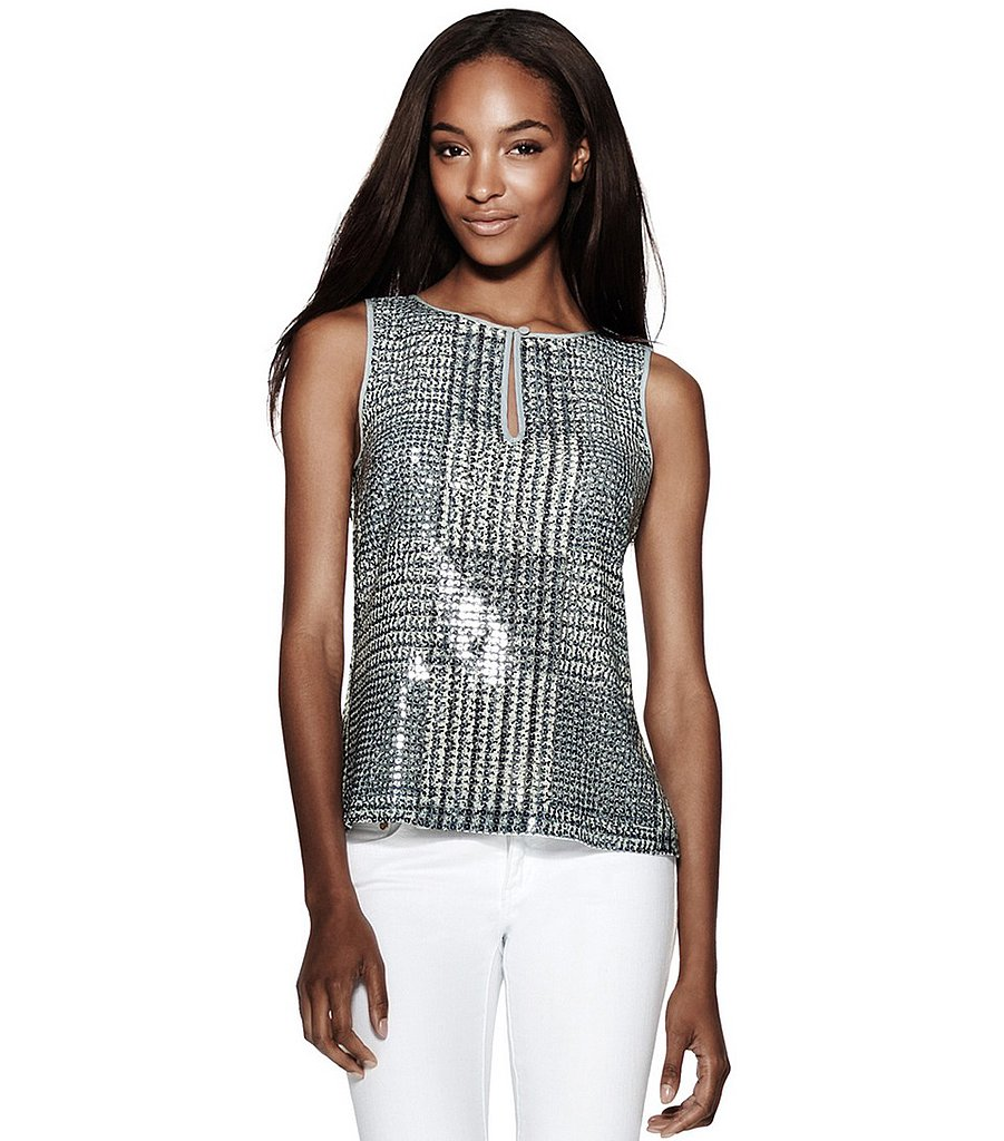 Subtle shimmer gives this Tory Burch Bristol glen plaid shell ($121, originally $345) a glamorous touch.
