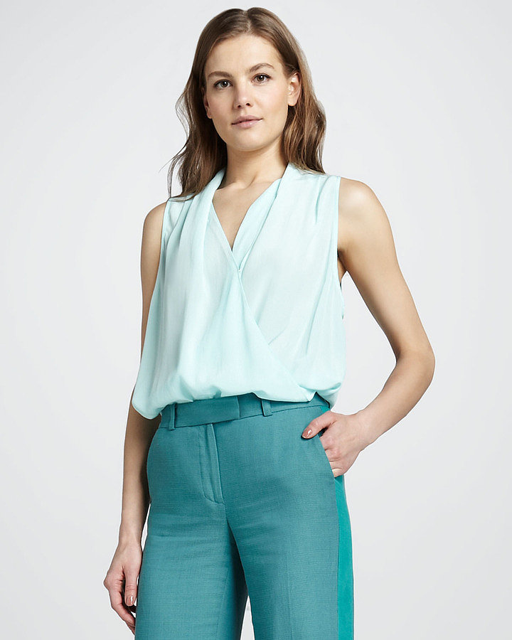Get a dose of this season's pastels, thanks to this Rachel Zoe Clara high-low surplice top ($215).