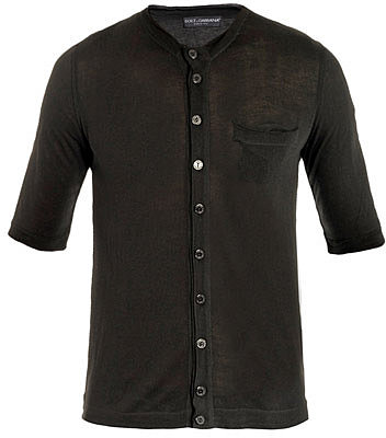 "[a href=""/mens/dolce-gabbana""]Dolce & Gabbana[/a]              Button-through short-sleeve top"