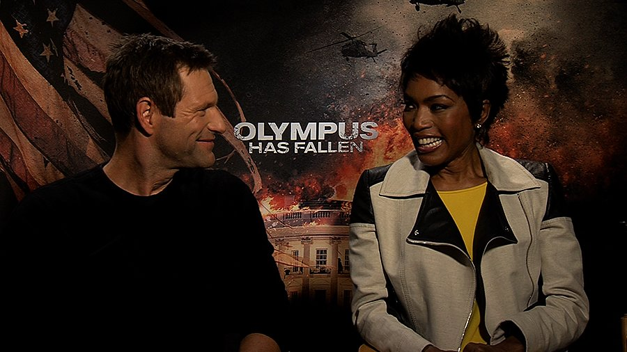 Aaron Eckhart and Angela Bassett on Olympus Has Fallen and Visiting the Real White House