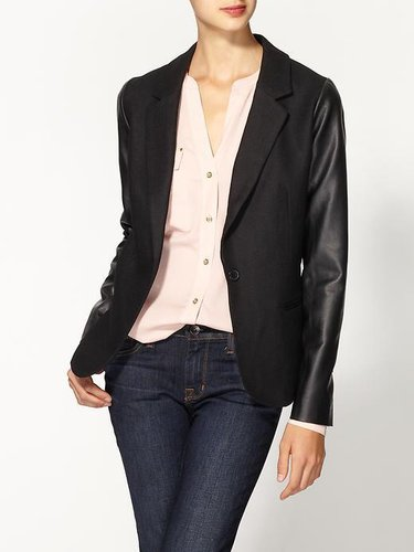 Tinley Road Vegan Leather Sleeve Blazer