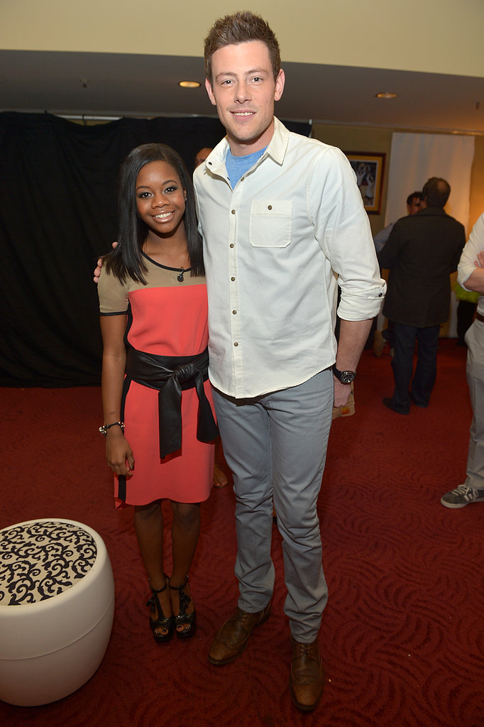 Cory Monteith linked up with Olmypian Gabby Douglas at the Kids' Choice Awards.