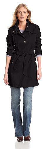 Tommy Hilfiger Women's Water Resistant Hooded Rain Coat