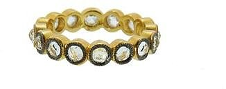 Cathy Waterman White Sapphire All Circles Band in Blackened Gold