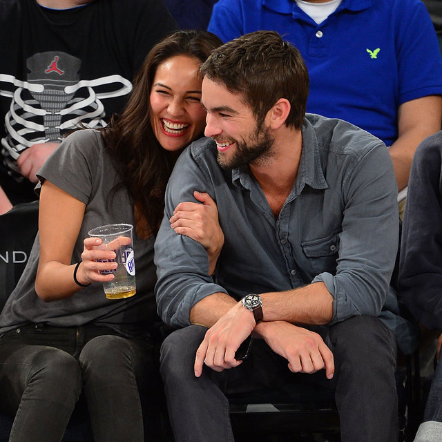Chace Crawford Pictures at Knicks Game With Model