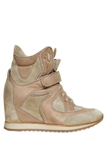 60mm Calf And Suede High Top Sneakers