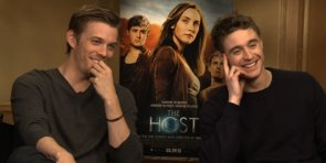 "Max Irons and Jake Abel Talk About The Host's ""Love Box"" and Fresh Breath"