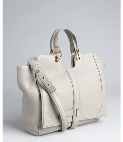 Kelsi Dagger light grey pebbled leather 'Chelsea' convertible top handle bag