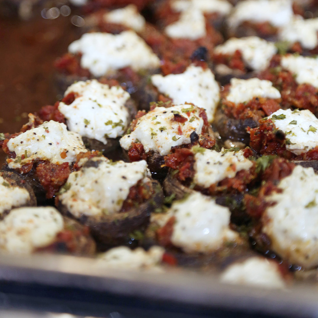 Fromage Blanc and Sun-Dried-Tomato-Stuffed Mushrooms