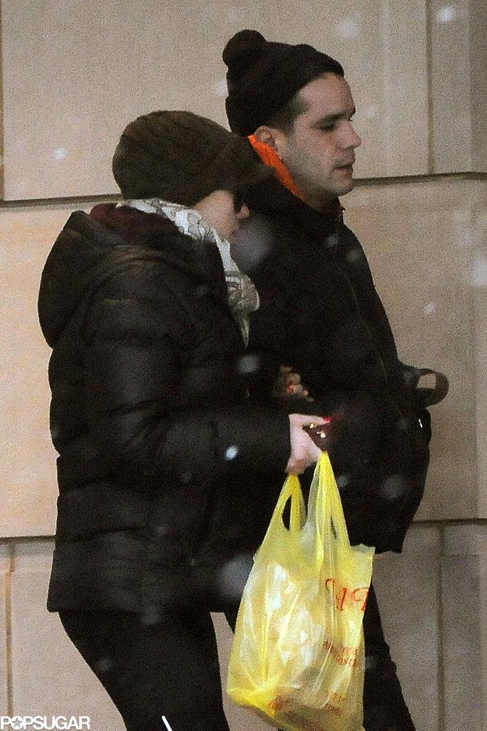 Scarlett Johansson and Romain Dauriac returned to their hotel.