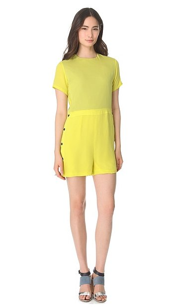 You can spend all Spring and Summer in this Opening Ceremony yellow romper ($470), then add different accessories for a fresh look each time.