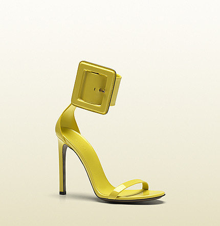 Victoire Ankle-Strap Sandal With Squared Buckle