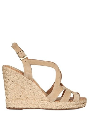 110mm Suede Rope Sandal Wedges