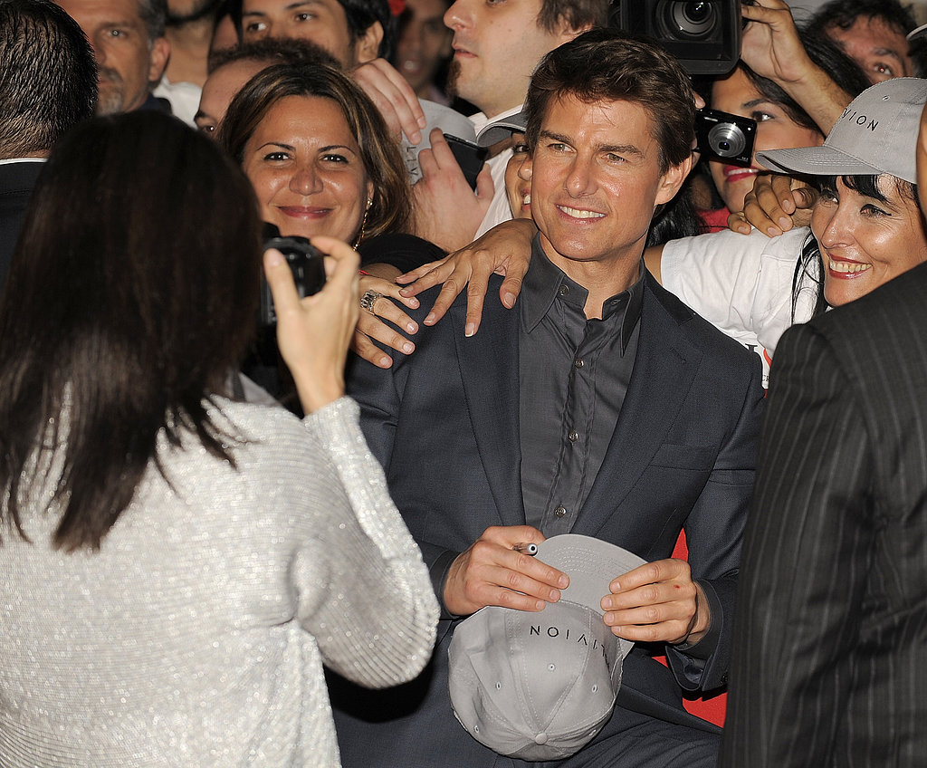 Tom Cruise Gets Support From His Costars at Oblivion Premiere