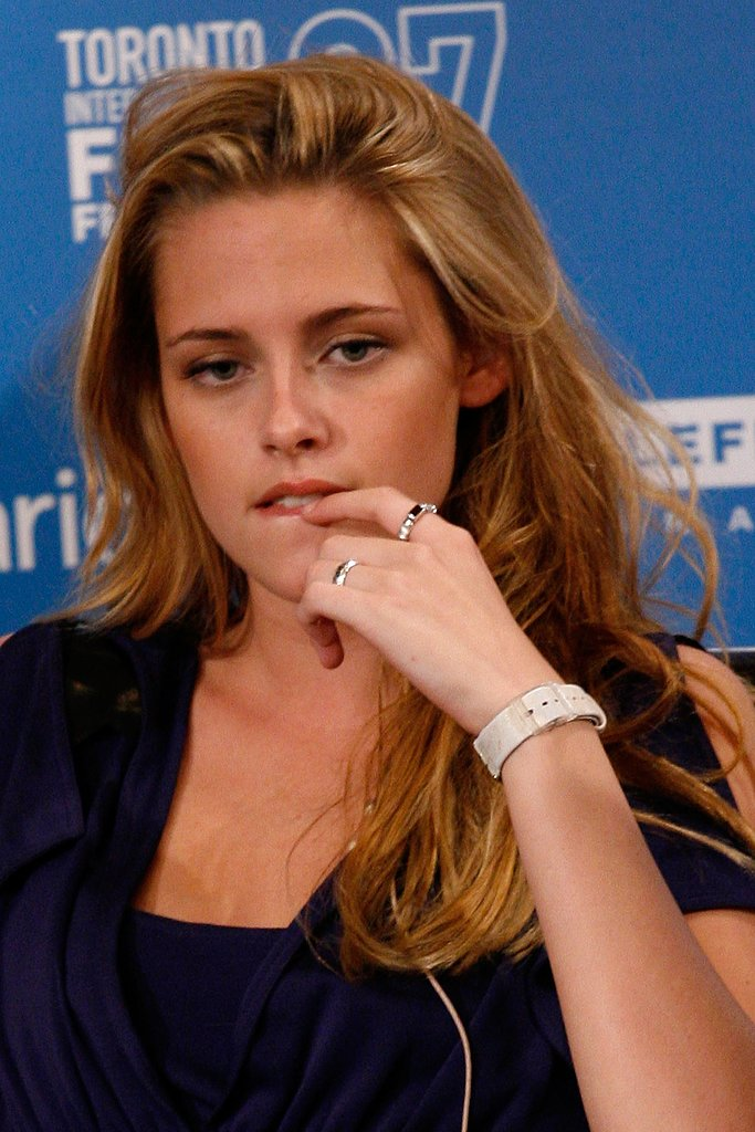 Kristen Stewart was deep in thought at a press conference for Into the Wild in Toronto in September 2007.