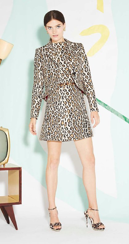 Leopard on leopard on leopard — what a wildly chic ensemble.
