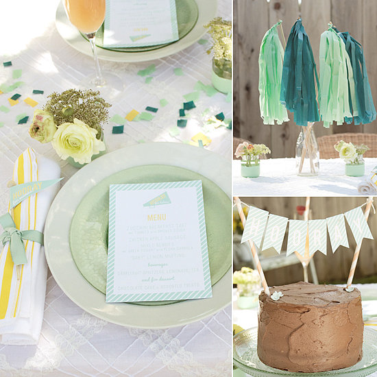 "Minty Fresh! A Sweet ""Hooray For Baby"" Shower"