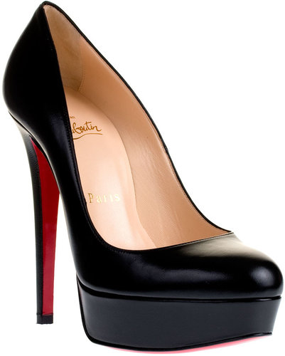 Christian Louboutin Bianca 140 black leather pump
