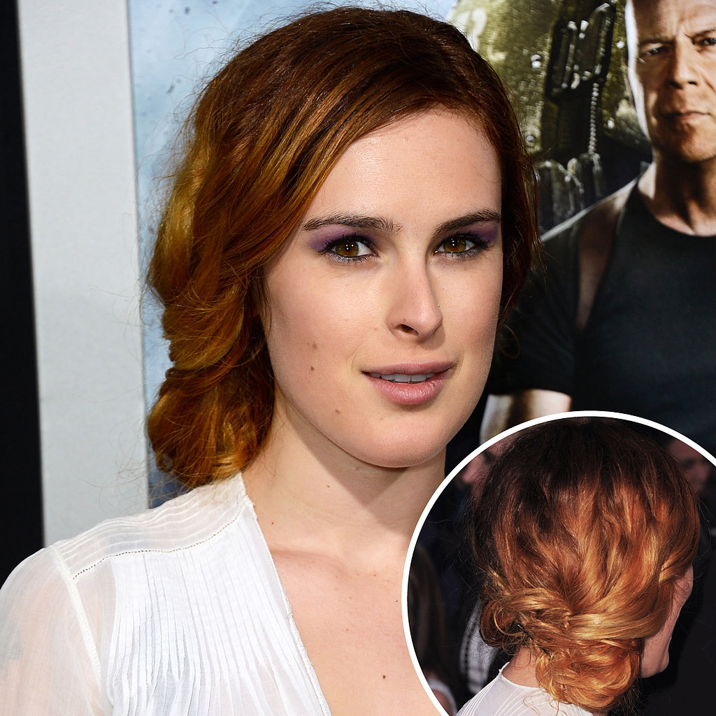 Supporting her father at the G.I. Joe: Retaliation premiere, Rumer Willis worked the red carpet with an effortlessly cool sideswept chignon.