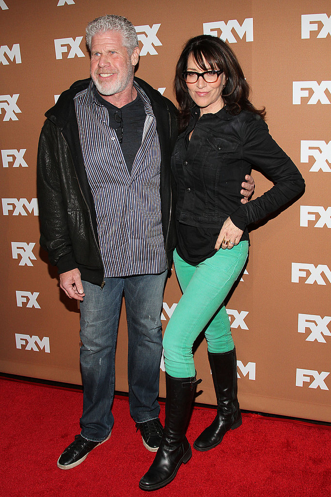 Ron Perlman and Katey Sagal posed on the red carpet.