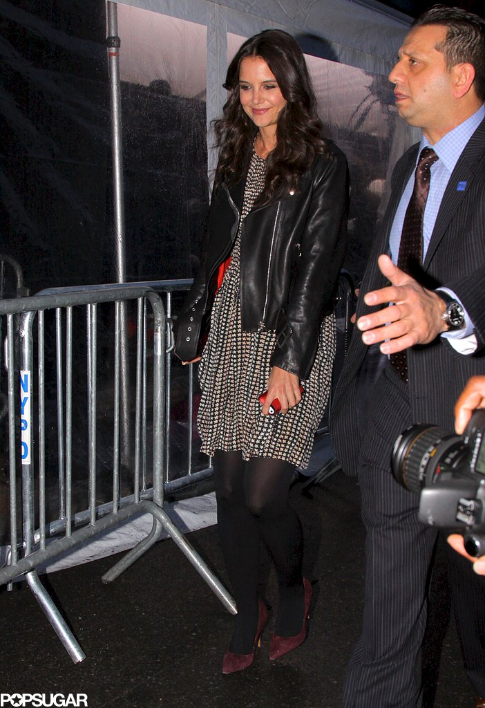 Katie Holmes arrived at The Place Beyond the Pines premiere.