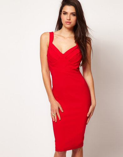 Hybrid Strappy Criss Cross Panel Pencil Dress