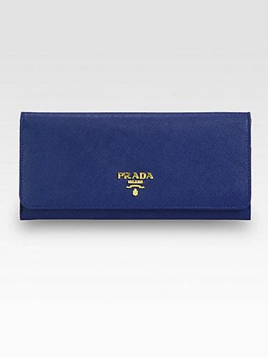 Prada Saffiano Continental Wallet