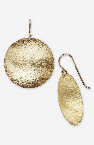 Argento Vivo Hammered Drop Earrings