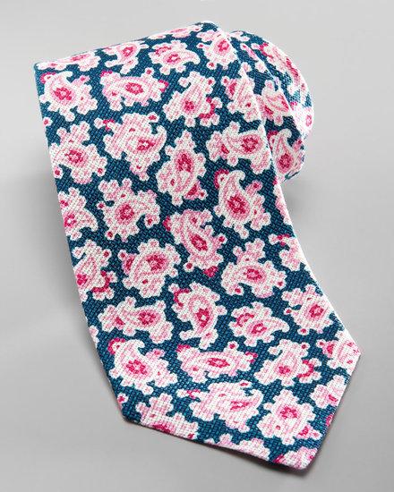 Kiton Paisley Grenadine Tie