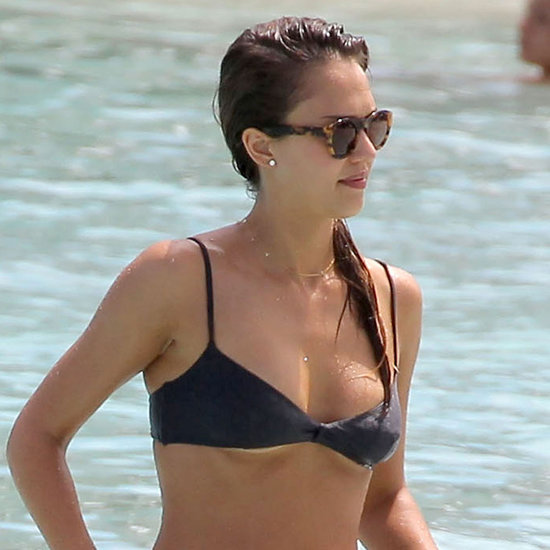Jessica Alba in a Bikini With Cash Warren Shirtless Pictures