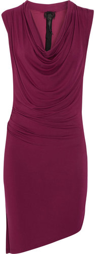 Poleci Asymmetric draped jersey dress