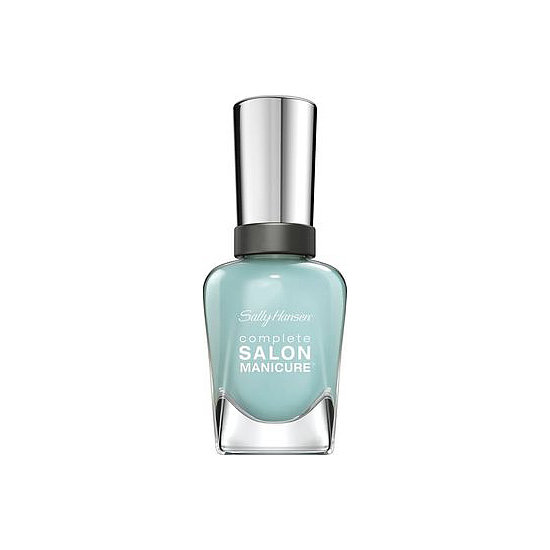 """A pop of blue is a trending manicure choice for Spring, and Sally Hansen Complete Salon Manicure in Barracuda ($8) is the perfect way to get in on the trend. The eye-catching pastel works for wedding season, too, to satisfy the """"something blue"""" portion of the ceremony."""