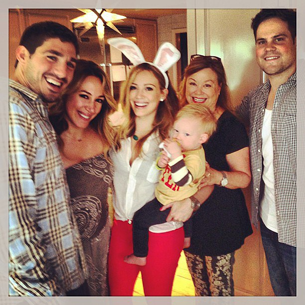 Hilary Duff donned bunny ears to celebrate Easter with her family.  Source: Instagram user haylieduff