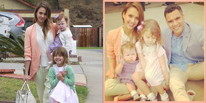Jessica Alba & Her Family Stay Coordinated in Adorable Easter Pastels