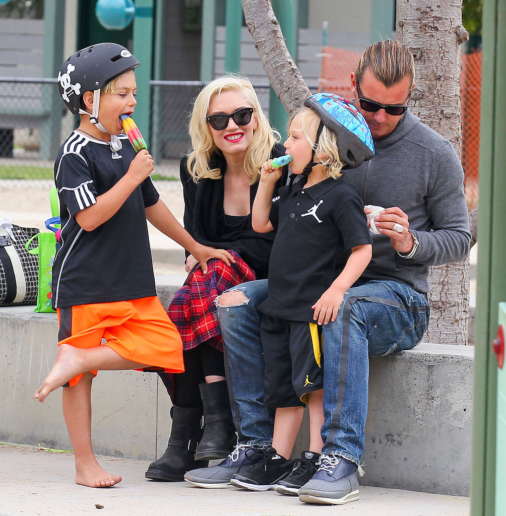 Gwen Stefani and Gavin Rossdale spent the day at an LA park with their boys Kingston and Zuma.