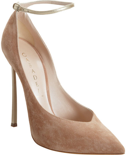 Casadei Blade Heel Pump with Ankle Strap