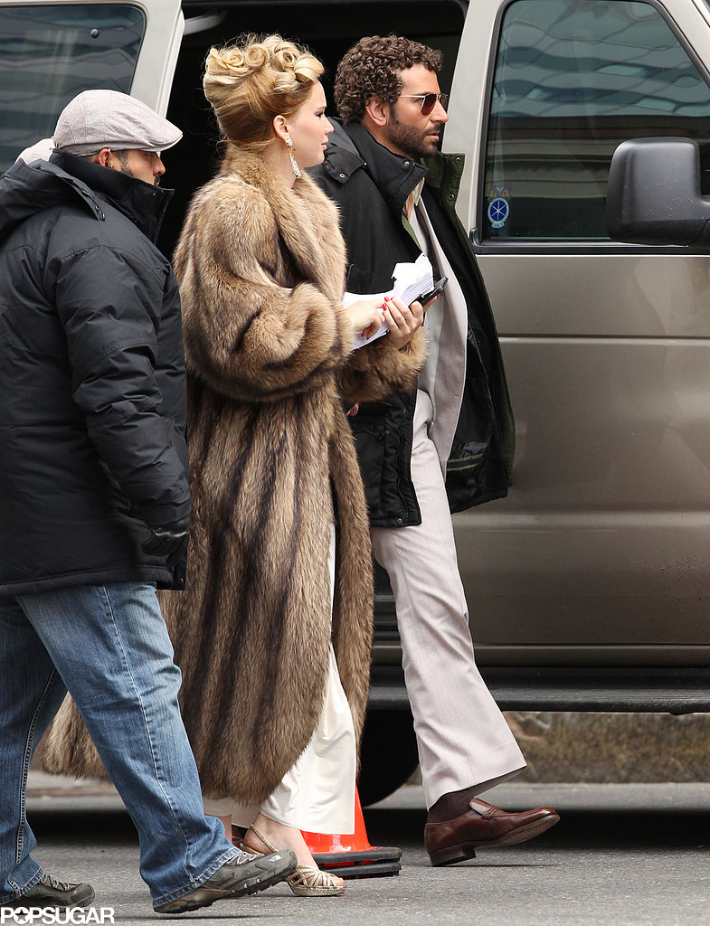 Jennifer Lawrence and Bradley Cooper popped up on set together in Boston.