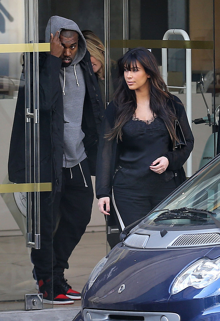 Kim and Kanye Meet Up in Paris For a Romantic Trip For Two