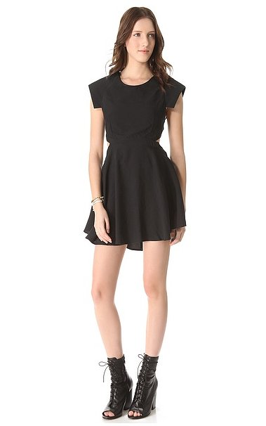 The LBD is indeed Spring-appropriate when it looks like this Shakuhachi dress ($161, originally $269) with a flirty fit and cool-girl cutouts.