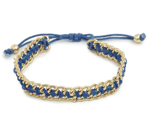Cobalt Chain Bracelet