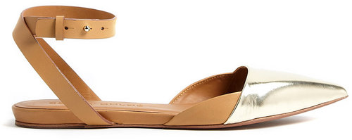 See by Chloé Shoes Hera Flat Sandal With Ankle Strap And Metallic Toe