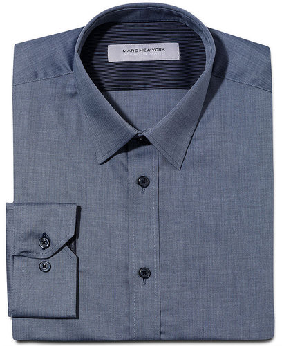 Marc New York Dress Shirt, Slim Fit Solid Long Sleeve Shirt
