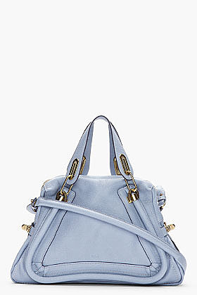 CHLOE Periwinkle blue Paraty Medium Shoulder Bag