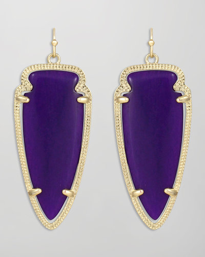 Kendra Scott Skylar Arrow Earrings, Purple